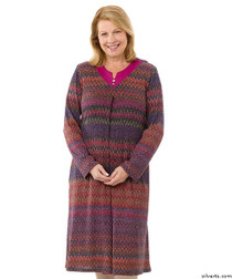 Silvert's 210200103 Stylish Wheelchair Dress For Women , Size Large, RASPBERRY