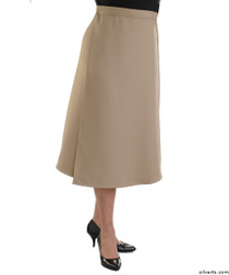 Silvert's 230101002 Womens Adaptive Arthritis Wrap Around Skirt With Adjustable Closure, Size Small, TAUPE
