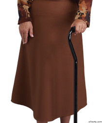Silvert's 230100905 Womens Adaptive Arthritis Wrap Around Skirt With Adjustable Closure, Size X-Large, COFFEE