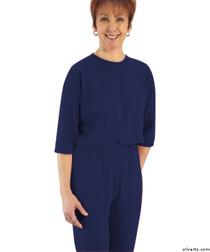Silvert's 233100205 Womens Adaptive Alzheimer's Anti Strip Jumpsuits , Size X-Large, NAVY