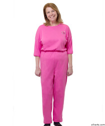 Silvert's 233100107 Womens Adaptive Alzheimer's Anti Strip Jumpsuits , Size 3X-Large, FUSCHIA