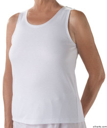 Silvert's 280400101 Womens Cotton Open Back Adaptive Undervests, Size Small, WHITE