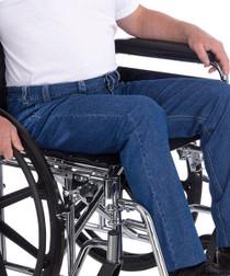 Silvert's 410500104 Mens Wheelchair Jeans , Size 34, DENIM