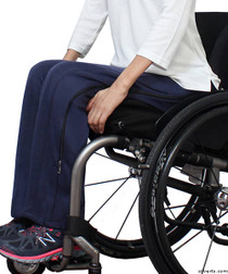 Silvert's 450130103 Womens Zipper Pants, 2 Way Zippers & VELCRO Closures, Size Large, NAVY
