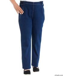 Silvert's 470100102 Womens Easy Access Zipper Front Jeans By Designer Izzy Camilleri , Size Medium, DENIM