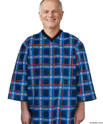 6738e913a5 Silvert s 500500103 Mens Adaptive Cotton Hospital Patient Nightgowns