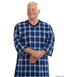 639b03308a Silvert s 501200603 Mens Adaptive Cotton Hospital Patient Nightgowns