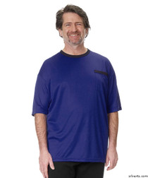Silvert's 505400401 Adaptive Tshirt Top For Men , Size Small, ROYAL