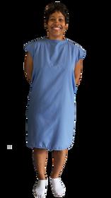 Blue sleeveless Gown XL (4409)