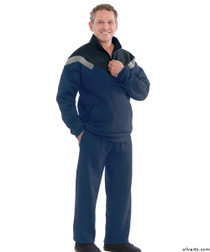 Silvert's 505530203 Mens Sporty Quality Tracksuit / Sweatsuit , Size Large, NAVY