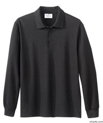 Silvert's 506900201 Mens Polo Shirt , Size Small, BLACK