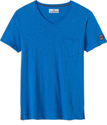 Blue Capri & V Neck Tee L (4433)