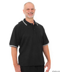 Silvert's 507100401 Adaptive Clothing Men , Size Small, BLACK