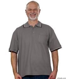 Silvert's 507100302 Adaptive Clothing Men , Size Medium, SMOKE GREY
