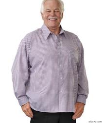 Silvert's 507500501 Men's Adaptive Sport Shirt , Size X-Small, RED/BLUE