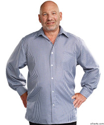 Silvert's 507500202 Men's Adaptive Sport Shirt , Size Small, NAVY