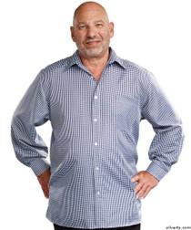 Silvert's 507500203 Men's Adaptive Sport Shirt , Size Medium, NAVY