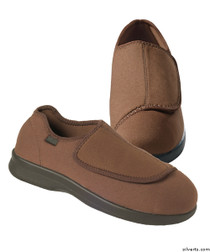 Silvert's 509900205 Mens Stretch Shoe With Adjustable Strap , Size 7, BROWN