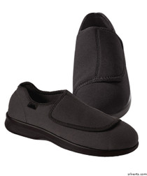 Silvert's 509900107 Mens Stretch Shoe With Adjustable Strap , Size 8, BLACK