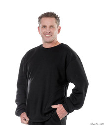 Silvert's 510300202 Mens Adaptive Fleece Sweatshirt Top , Size Small, BLACK