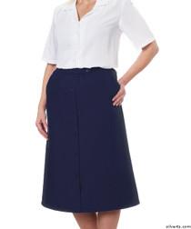Silvert's 131300303 Womens Regular Elastic Waist Skirt With Pockets , Size 8, NAVY