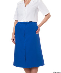 Silvert's 131300105 Womens Regular Elastic Waist Skirt With Pockets , Size 12, COBALT