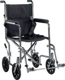 """Deluxe Go-Kart Steel Transport Chair (Chrome) 19"""" (3939)"""