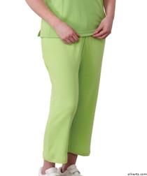 Silvert's 131600102 Womens Arthritis Elastic Waist Pull On Capris Pants, Size Small, APPLE