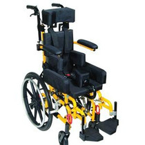"Drive KG 1000 Kanga TS Pediatric Folding Tilt-In-Space Wheelchair 10"", Yellow"