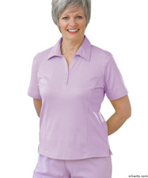 Silvert's 135100301 Womens Regular Popular Polo, Size Small, LAVENDER