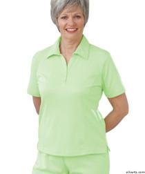 Silvert's 135100202 Womens Regular Popular Polo, Size Medium, LIME
