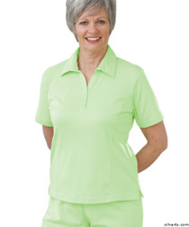 Silvert's 135100203 Womens Regular Popular Polo, Size Large, LIME