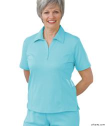 Silvert's 135100103 Womens Regular Popular Polo, Size Large, AQUA