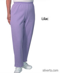 Silvert's 141200504 Regular Fleece Tracksuit Pants For Women , Size Large, LILAC
