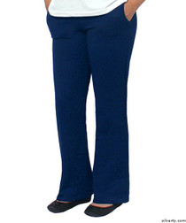 Silvert's 141230204 Conventional Fleece Track Pants For Women , Size Large, NAVY