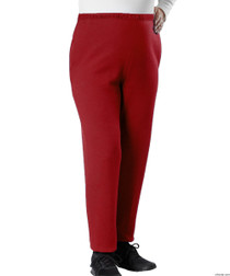 Silvert's 141230104 Conventional Fleece Track Pants For Women , Size Large, RED