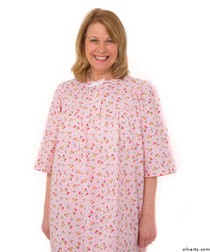 Silvert's 161300202 Womens Regular Short Cotton Sleepwear Nightgown , Size Small, PINK