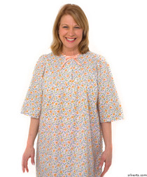 Silvert's 161300603 Womens Regular Short Cotton Sleepwear Nightgown , Size Medium, CORAL