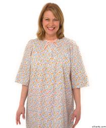 Silvert's 161300604 Womens Regular Short Cotton Sleepwear Nightgown , Size Large, CORAL