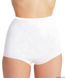 Silvert's 180010107 Womens Cotton Panties For Elderly Seniors, Size 3X-Large, WHITE