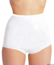 Silvert's 180020110 Womens Cotton Panties For Elderly Seniors, Size 6X-Large, WHITE