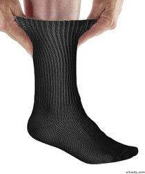 Silvert's 191100201 Simcan Ultra Stretch Comfort Diabetic Sock Ultra Stretch Comfort Diabetic Socks , Size Regular, BLACK