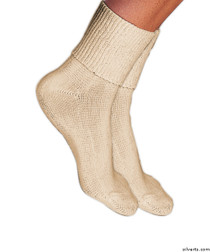 Silvert's 191110301 Simcan Ultra Stretch Comfort Diabetic Sock Ultra Stretch Comfort Diabetic Socks , Size KING, CREAM