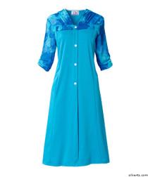 Silvert's 211500103 Comfortable Adaptive Open Back Dress For Women , Size Medium, ROYAL