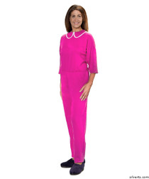 Silvert's 233300103 Womens Adaptive Alzheimers Clothing Anti Strip Suit Jumpsuit , Size Medium, BERRY