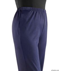 Silvert's 233800302 Womens Stretch Knit Adaptive Wheelchair Users Pant , Size Medium, NAVY