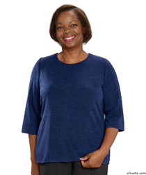 Silvert's 234600201 Adaptive Sweater Top For Women , Size Small, DENIM