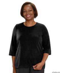 Silvert's 234600402 Adaptive Sweater Top For Women , Size Medium, BLACK