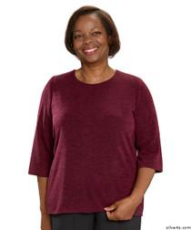 Silvert's 234600302 Adaptive Sweater Top For Women , Size Medium, WINE