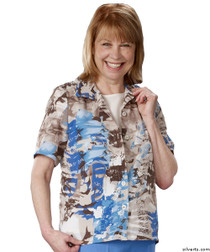 Silvert's 244310602 Womens Fashionable Adaptive Blouses , Size 3X-Large, BEIGE